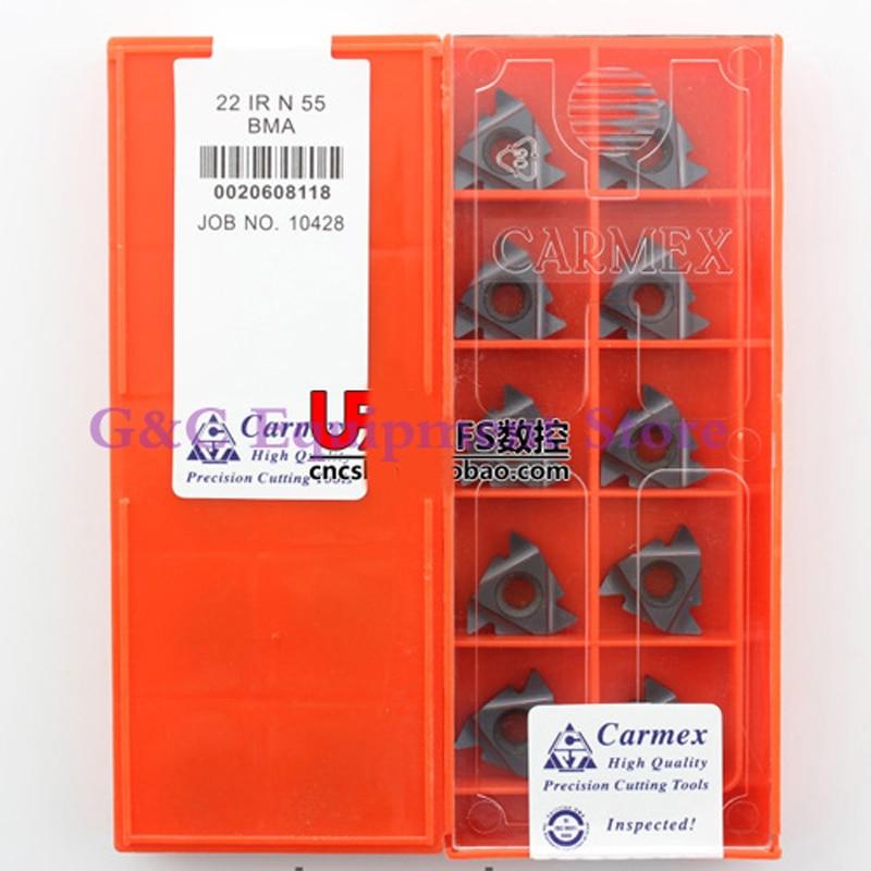22IR N55 BMA Thread Inserts CNC Thread Turning Tool 22 IR N 55 BMA