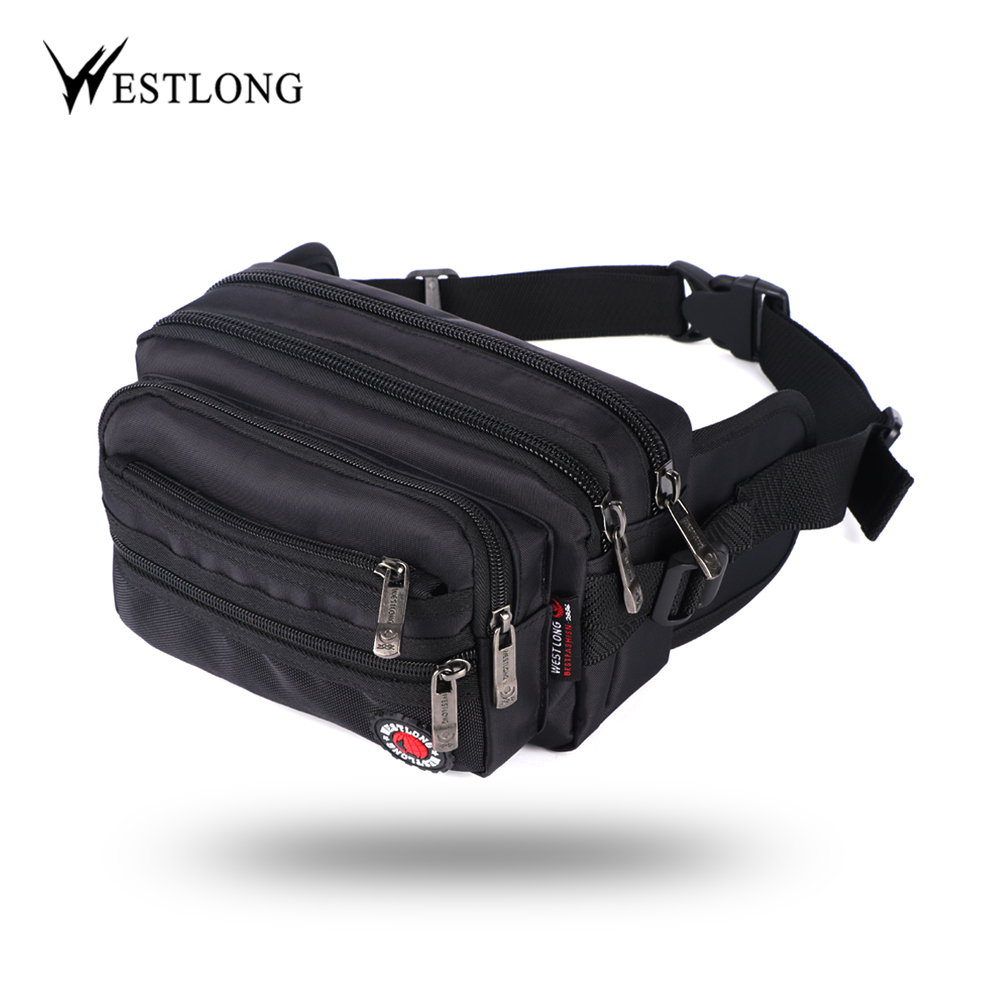 Waist Pack Casual Functional Fashion Men Waterproof Fanny Pack Women Belt Bum Bag Male Phone Wallet Pouch Bags Unisex 98011-in Waist Packs from Luggage & Bags