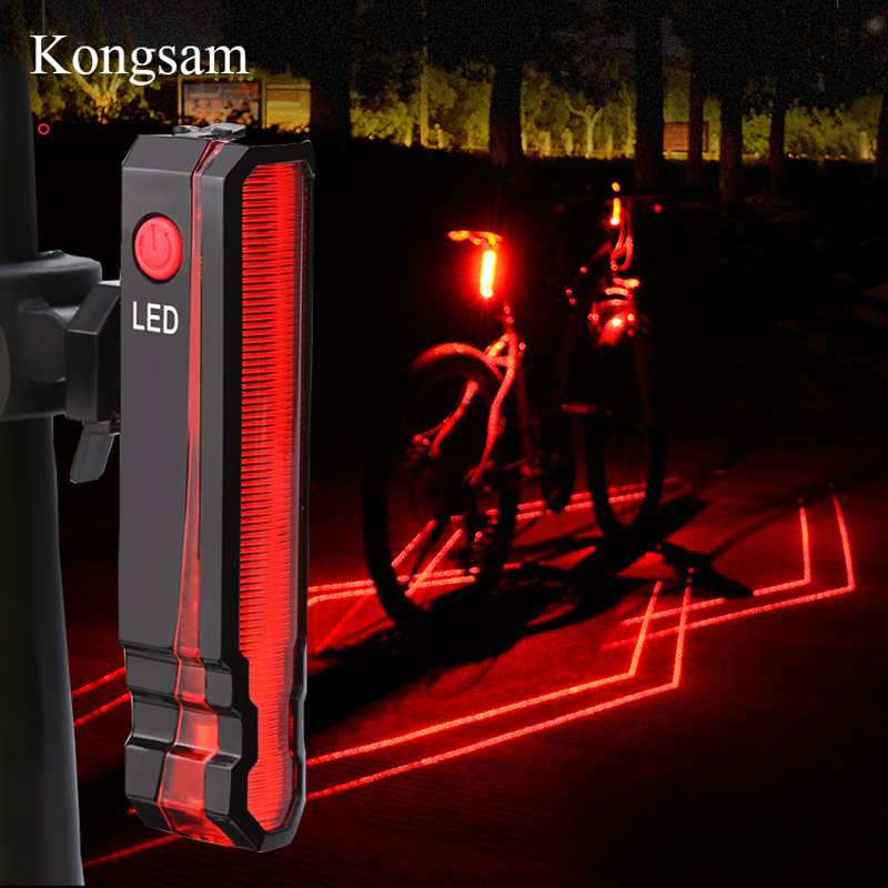 GIYO USB Rechargeable Bicycle Rear Light Cycling LED Taillight MTB Mountain Waterproof Bicycle Bike Rear Tail Warning Lamp Light 5 led 3 mode bicycle bike rear tail lamp light red