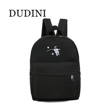 DUDINI Funny Embroidery Printing Backpack Junior High School Students Schoolbag Laptop Bag BackPack Schoolbag For Girls