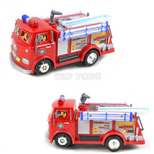 New FIREMAN SAM Anime Toy Truck Fire Truck Car Kids Toys with Music LED Light Boy Toy Educational