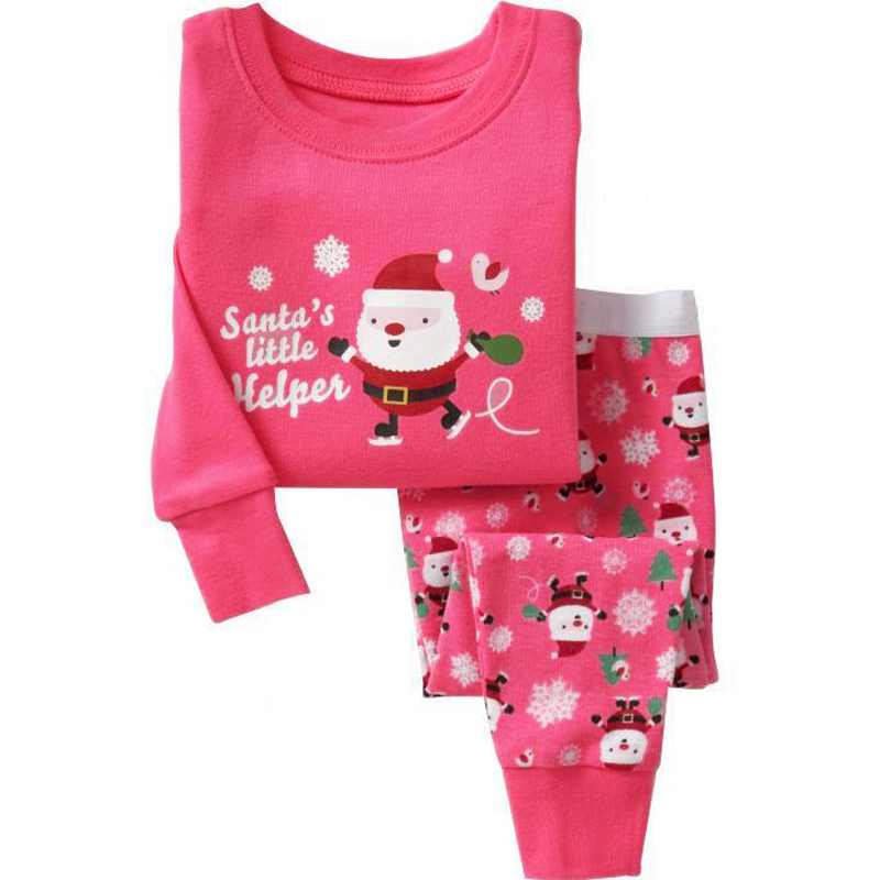 christmas kids pajamas girls boys nightgown baby pijamas santa claus costume cotton children clothing sleepwear 2 7 years