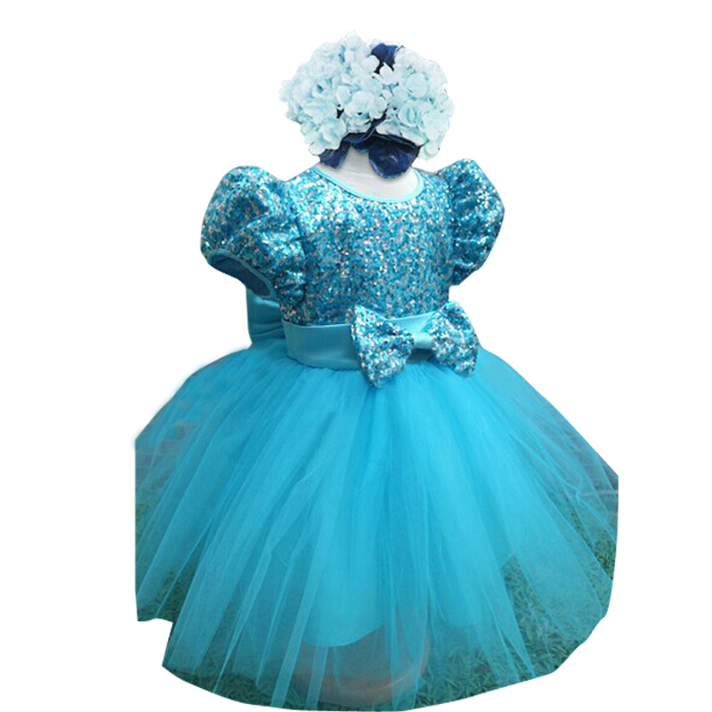 2018 New Kinds Dress For Girls Girls Dress Sequins Party Dress GirlS Costume 2-6 Y Cloth ...