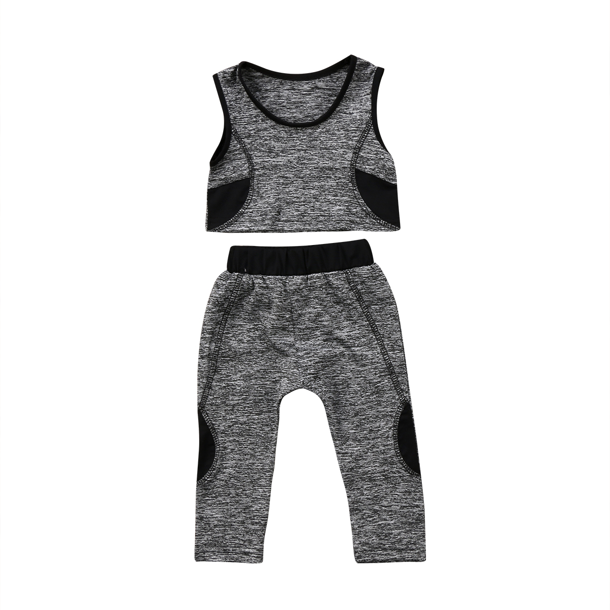 Kids Baby Girls Casual Vest Crop Top Pants Leggings Summer Fashion Children Girl Clothes Set Outfits 1-6T
