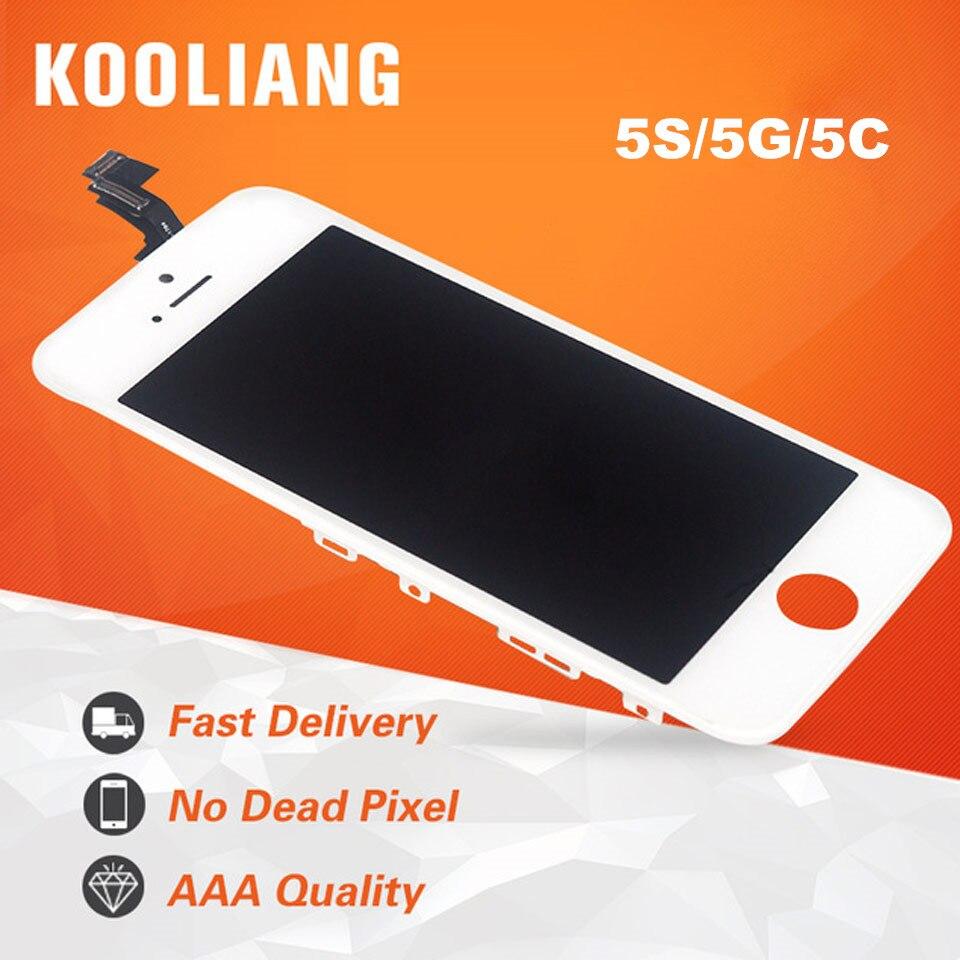 DHL 10 pièces AAA pour iPhone 5 SE LCD approvisila écran sur 5 S ekran 5C ecran 5G tela remplacement affichage tactile numériseur assemblée