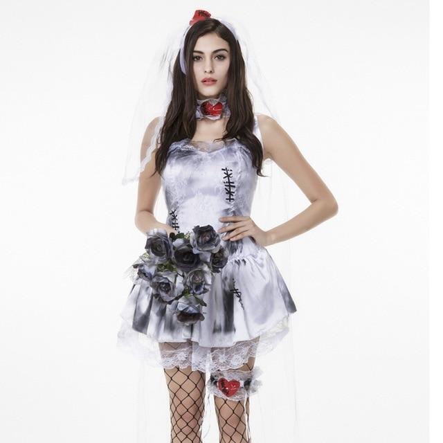 Umorden Halloween Purim Costumes for Women Zombie Corpse Bride Costume Short Love Patch Fantasia Cosplay Dress  sc 1 st  AliExpress.com & Umorden Halloween Purim Costumes for Women Zombie Corpse Bride ...
