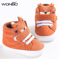 Winter Baby Shoes Cotton Cloth Kids Girl Boys Fox High Help First Walker Canvas Sneaker Anti