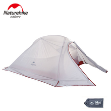 Naturehike 210T/20D Silicone Fabric Ultralight 3 Person Camping Tents 4 Season Double-layer Travel Tent 1.8KG With Free Mat