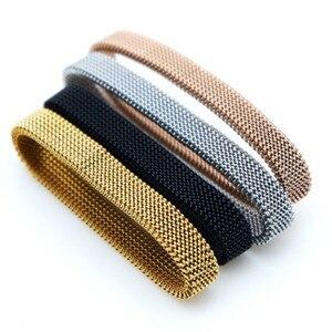 Image 4 - Somsoar Sieraden rvs veerkrachtig Mesh Armband luxe Polsband hand made Mesh Armband om groothandel 10 stks/partij