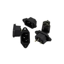 цена на 3P IEC 320 C14 Male Plug Panel Power Inlet Sockets Connectors AC 250V 10A 10Pcs