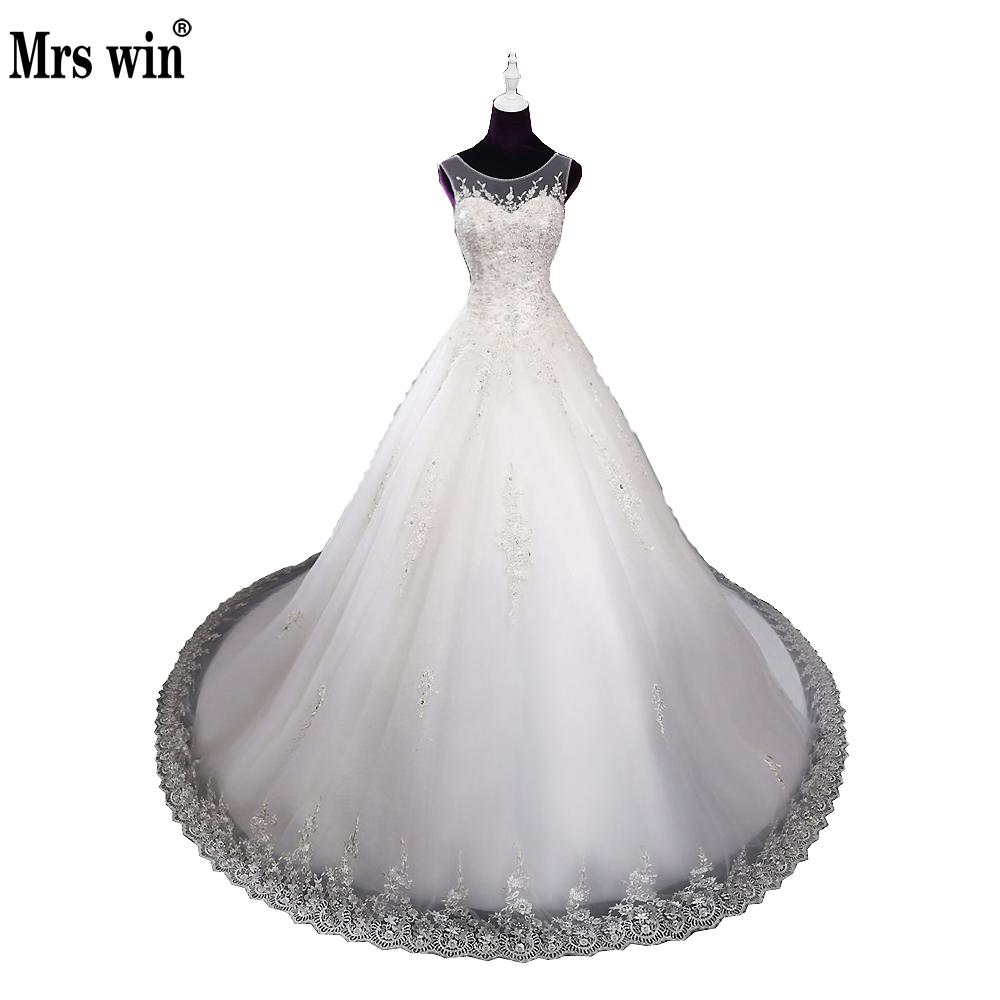 Luxury New Arrival 100% Real Picture Lace Up Appliques Pearls Flowers Ball Gown Wedding Dresses 2018 Vestido Branco