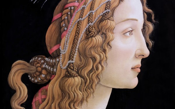 Sandro Botticelli the great <font><b>Italian</b></font> painter portrait of a young woman 4 Sizes <font><b>Home</b></font> <font><b>Decoration</b></font> Canvas Poster Print