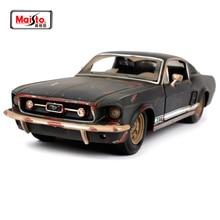 Maisto 1:24 1967 FORD Mustang GT Do Старая винтажная литая под давлением модель автомобиля игрушка Новинка в коробке Новое поступление 32142