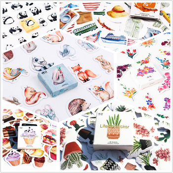 45pcs/pack Flowers Totem Memo Stickers Pack Posted It Kawaii Planner Scrapbooking Stickers Stationery Escolar School Supplies