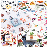 45pcs/pack Flowers Totem Memo Stickers Pack Posted It Kawaii Planner Scrapbooking Stickers Stationery Escolar School Supplies Stationery Stickers