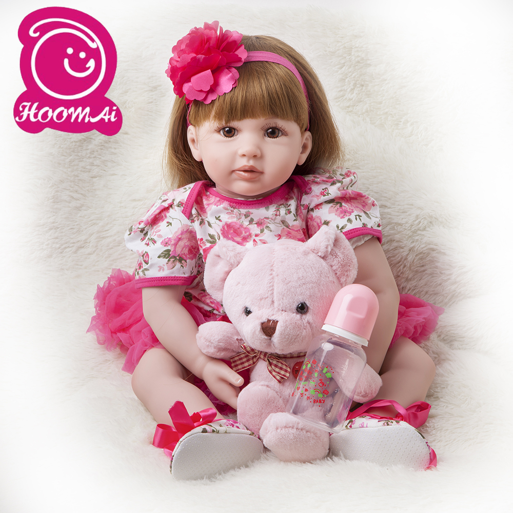60cm Silicone Reborn Baby Doll Toys 24 Inch Vinyl Princess Toddler Babies Dolls Girls Birthday Gift Present Child Play House Toy