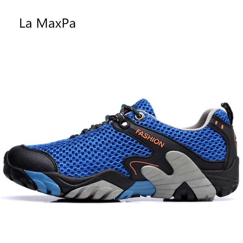 Для мужчин Пеший Туризм обувь уличные дышащие кеды спортивная обувь Для мужчин большой Размеры сандалии для прогулки для Для мужчин походы ...