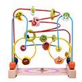 Baby Toys Wooden Counting Vegetable Beads Child Intelligence Toys Wire Maze Roller Coaster Educational Toys Birthday Gift