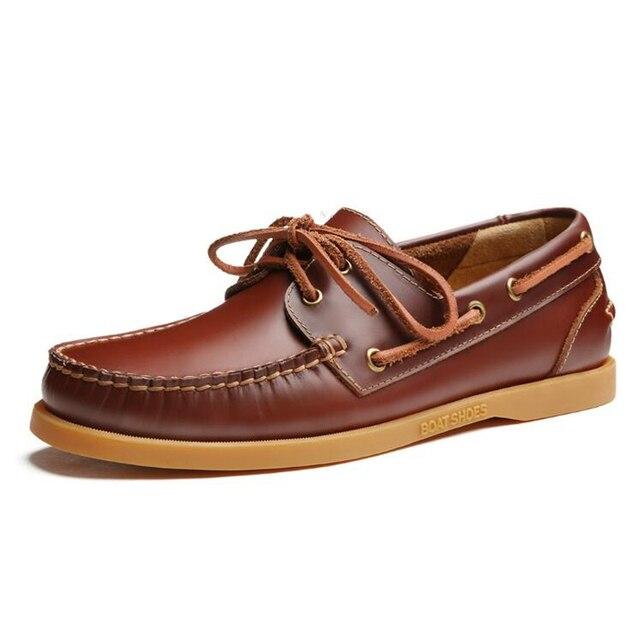 2017 мужчин из натуральной кожи лодка обуви мужской британский стиль brogue плоские обуви мода досуг ручной работы sapato masculino