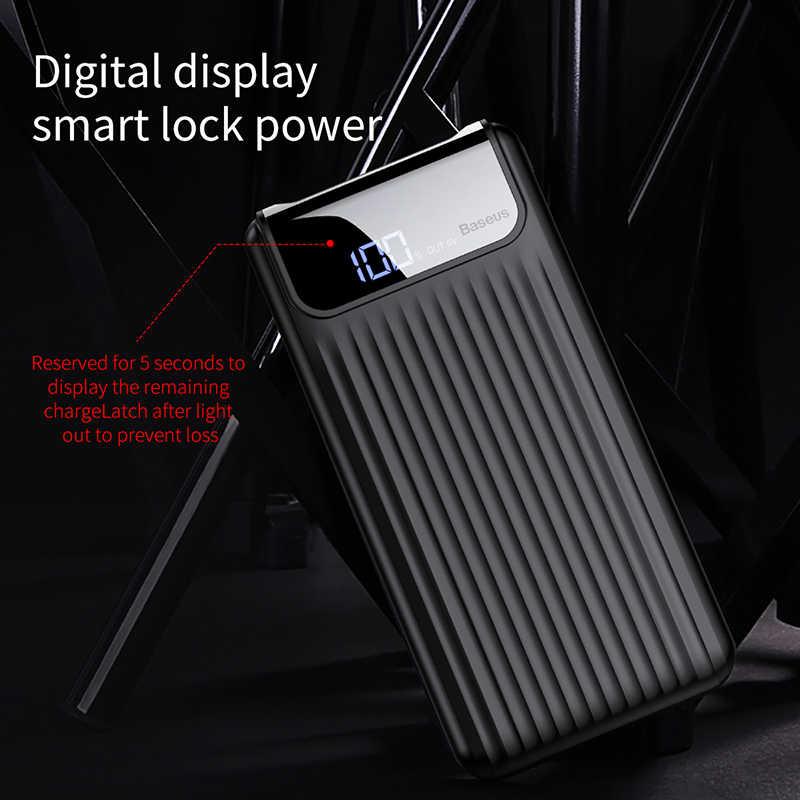 BASEUS Quick Charge 3.0 10000 mAh Power Bank LCD 10000 mAh QC3.0 Fast Powerbank แบบพกพาภายนอกสำหรับ Xiao mi Mi 9