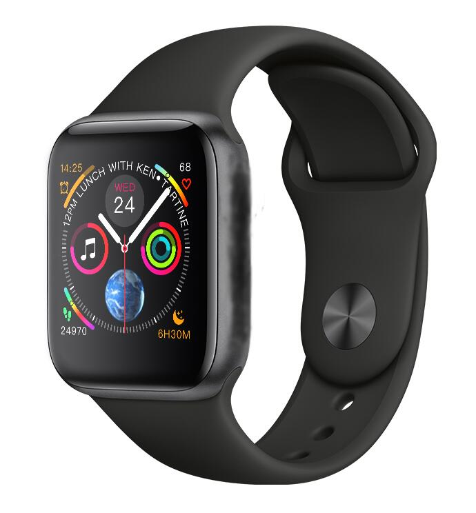 IWO 8 44 MM Série 4 SIRI Smartwatch Bluetooth Relógio Inteligente Para Samsung Xiaomi Huawei ios Apple iphone 5 6 7 8 X XS MAX XR