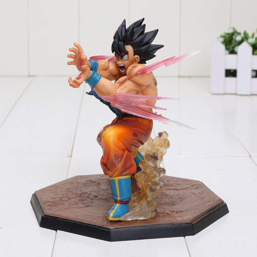 цена 13cm Dragon Ball Z Figuarts ZERO SON GOKU KameHameHa Ver Tamashii Bulb PVC Action Figure Model Toy Dragon Ball Figure
