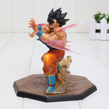 13 centímetros Dragon Ball Z SON GOKU KameHameHa Ver Tamashii Lâmpada PVC Action Figure Modelo Toy Figura Bola Dragão(China)