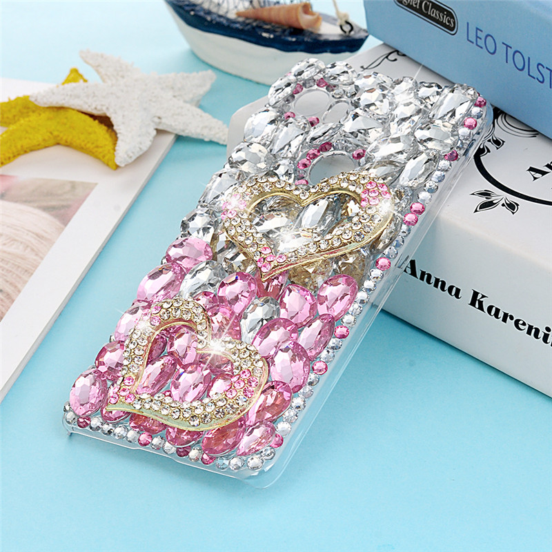 3D Handmade Luxury Bling Crystal Diamond Rhinestones Case For Google Pixel 2 XL Back Hard Cover Plastic Protective Skin
