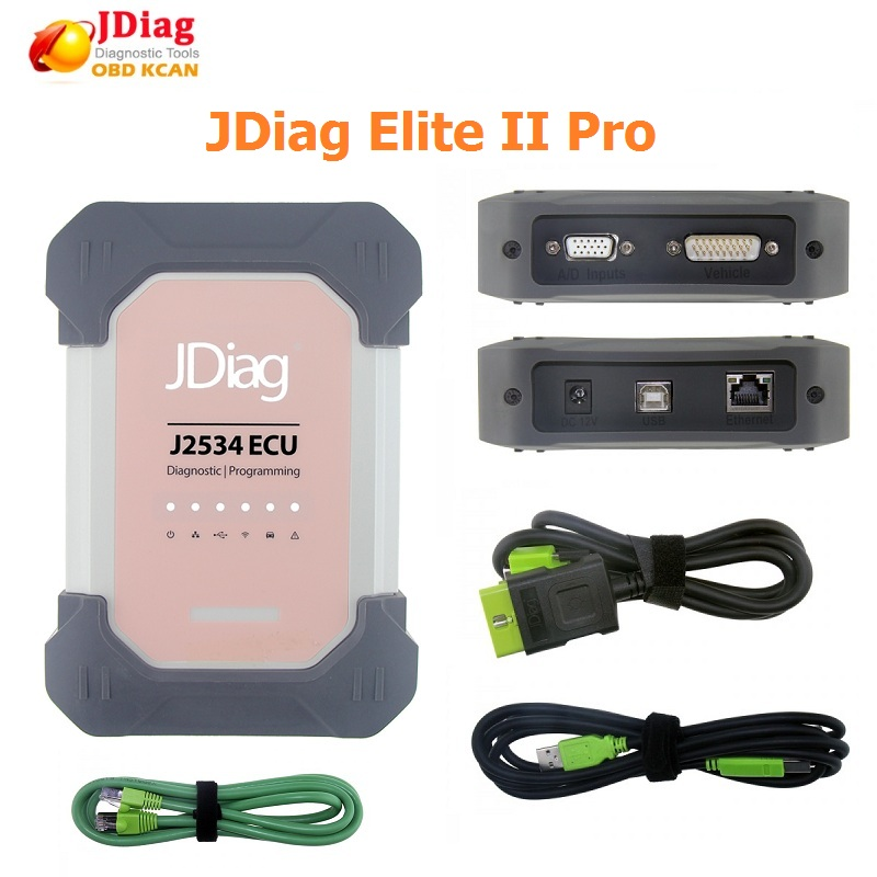 Car Diagnostic Tool Auto Diagnostic Pro JDiag Elite II Diagnostic&ECU Programmer Tool JDiag J2534 For H Onda/T Oyota/V Olvo