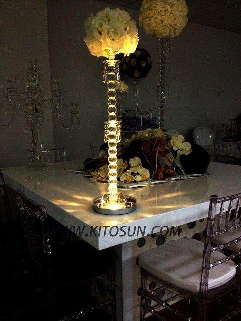 1pcs Led Rgb 8 Round Base Light Wedding Centerpiece Eiffel Tower
