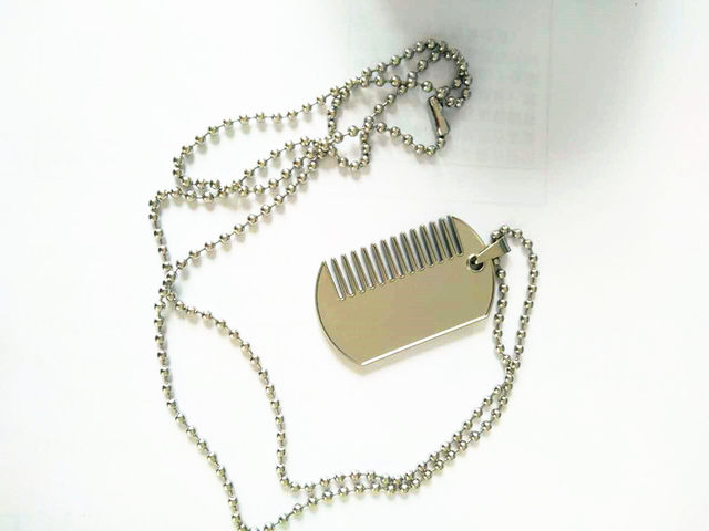 online shop 2018 new necklace pendant comb beard trimmer shaping