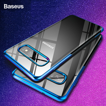 Baseus Luxury Plating Phone Case For Samsung Galaxy S10 Plus Coque Ultra Thin Soft TPU Silicone Back Cover For Galaxy s10 Fundas