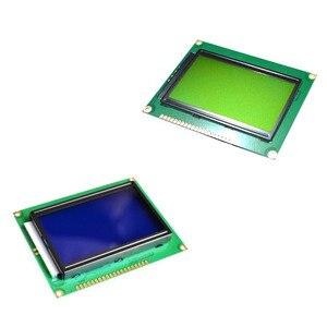 Image 1 - LCD לוח צהוב ירוק מסך 12864 128X64 5V כחול מסך תצוגת ST7920 LCD מודול עבור arduino 100% חדש מקורי
