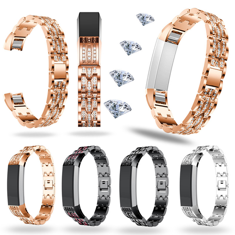 Stainless Steel Crystal Watch Band Wrist strap For Fitbit Alta HR/Fitbit Alta Smart Watch Accessory 2018 Hot correa relo