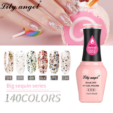 LiLy Angel 15ml UV Gel Nail Polish Shining Manicure Gels Nails For  Art 109-140