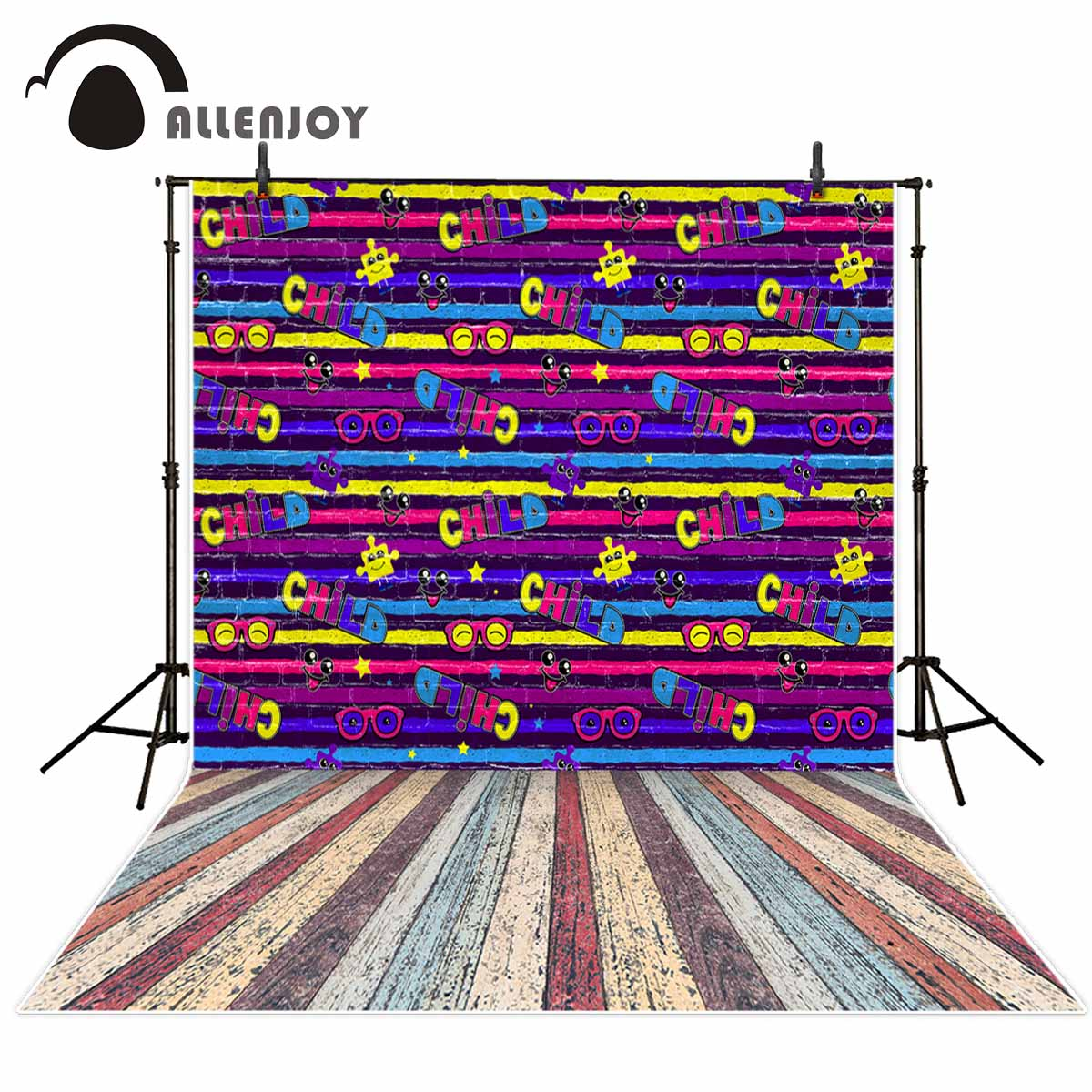 Allenjoy Cool kids background stripes wooden floor background for photography fond studio photo photography studio funds party