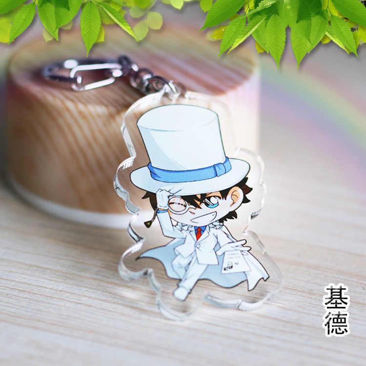 Japão anime detetive conan acrílico chaveiro rachel moore anita hailey clássico dos desenhos animados dupla face pingente chaveiros llaveros