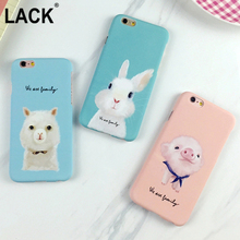 LACK Cute Animal dog frosted Case For Iphone 6 6S Plus Phone cases Coque Cartoon pig and rabbit Hard PC frosted Capa Fundas
