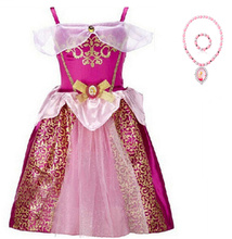 New European and American childrens clothing ice romance dress cute princess show