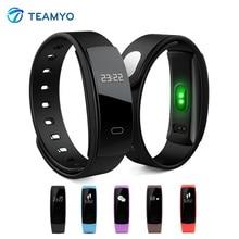 Teamyo QS80 Спорт Смарт Браслет сердечного ритма Мониторы Relogio cardiaco часы Приборы для измерения артериального давления Фитнес трекер Smart Watch