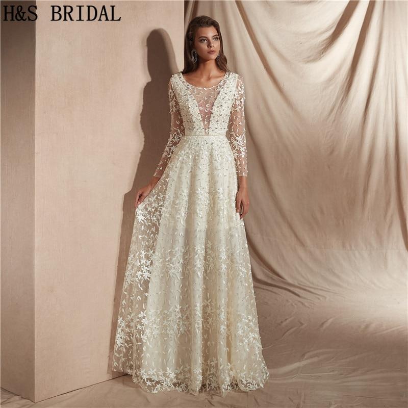 H S Bridal Beach Wedding Dresses Ivory
