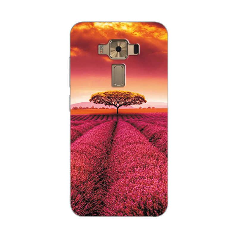 الزهور رسمت الهاتف جراب إيسوز Zenfone ZE552KL جراب إيسوز ZE520KL الجدة Fundas ZE 552KL الكوكب ZE520 KL