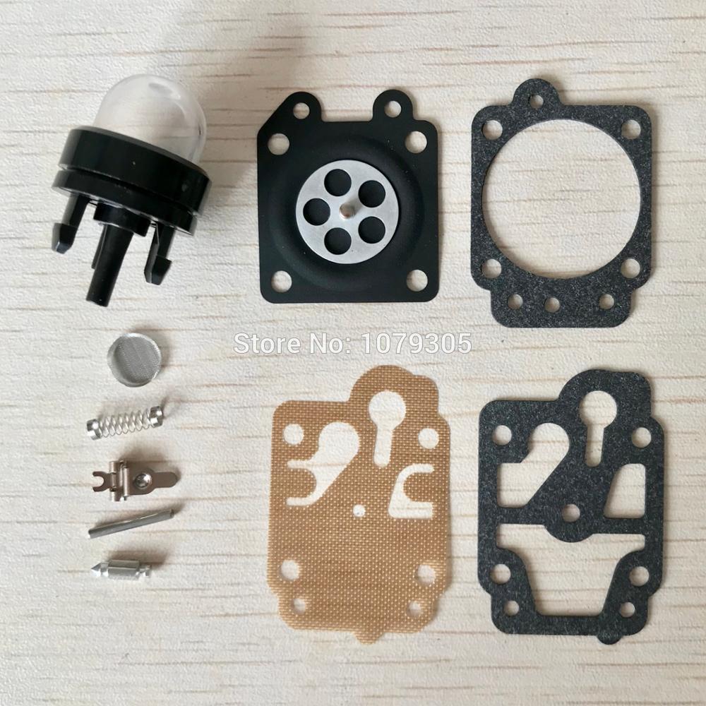 43CC 52CC 40-5/44F-5 34F 36F 139F Brush Cutter Grass Trimmer Carburetor Carb Repair Kits & Primer Bulb Assy.