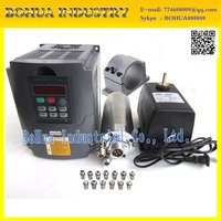 Water Cooled Spindle Kit 2.2KW CNC Milling Spindle Motor + 2.2KW VFD + 80mm clamp + water pump +13pcs ER20 for CNC Router