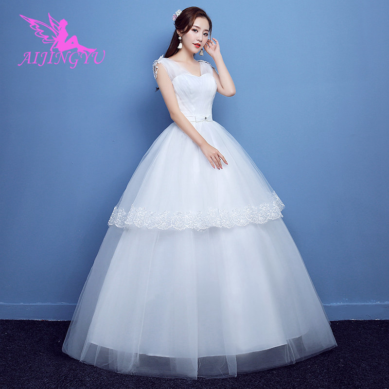 731144d9c5df0 US $36.0 |AIJINGYU 2018 elegant free shipping new hot selling cheap ball  gown lace up back formal bride dresses wedding dress FU243-in Wedding  Dresses ...
