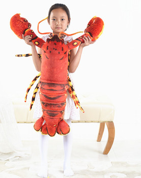 large 100cm cartoon red lobster plush toy soft throw pillow birthday gift b0960