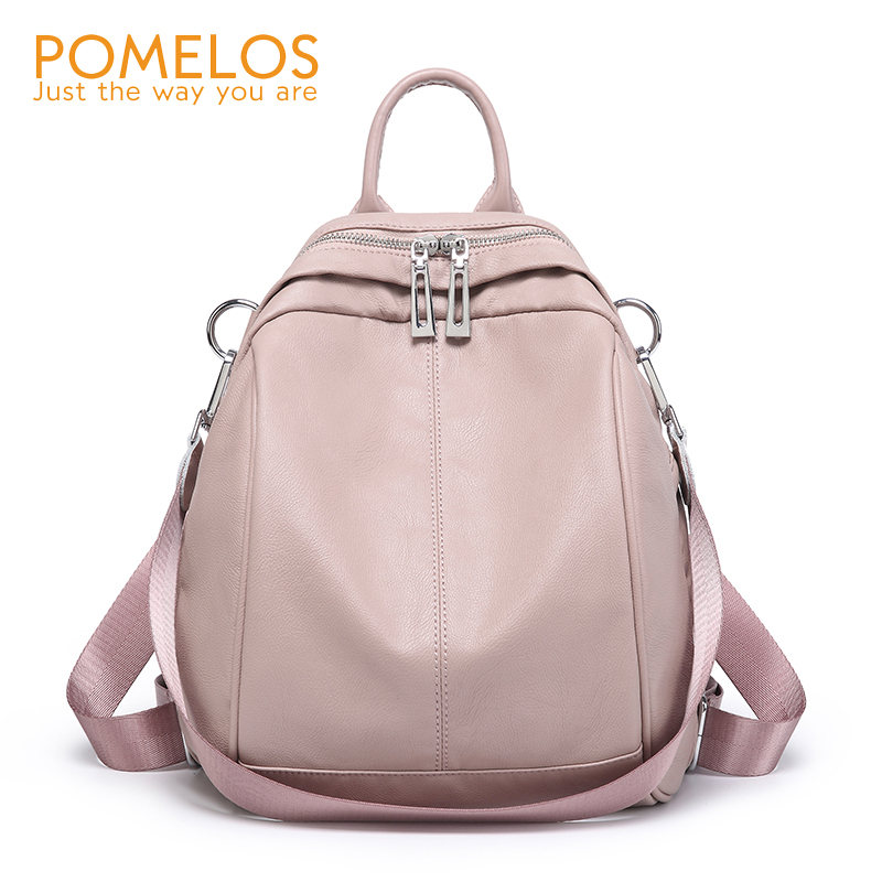 POMELOS Backpack Women 2018 Autumn New Arrive Small Backpack PU Leather Fashion Travel Backpack School Bags For Teenage Girls 2018 new casual girls backpack pu leather 8 colors fashion women backpack school travel bag with bear doll for teenagers girls