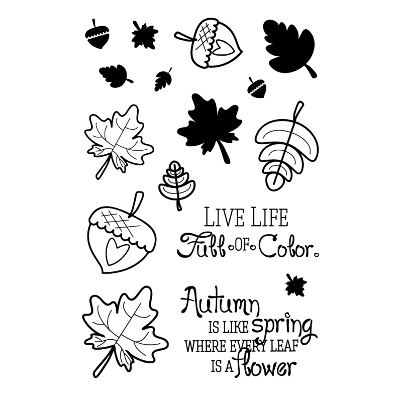 Fallof color Transparent Clear Silicone Stamp/Seal for DIY scrapbooking/photo album Decorative clear stamp