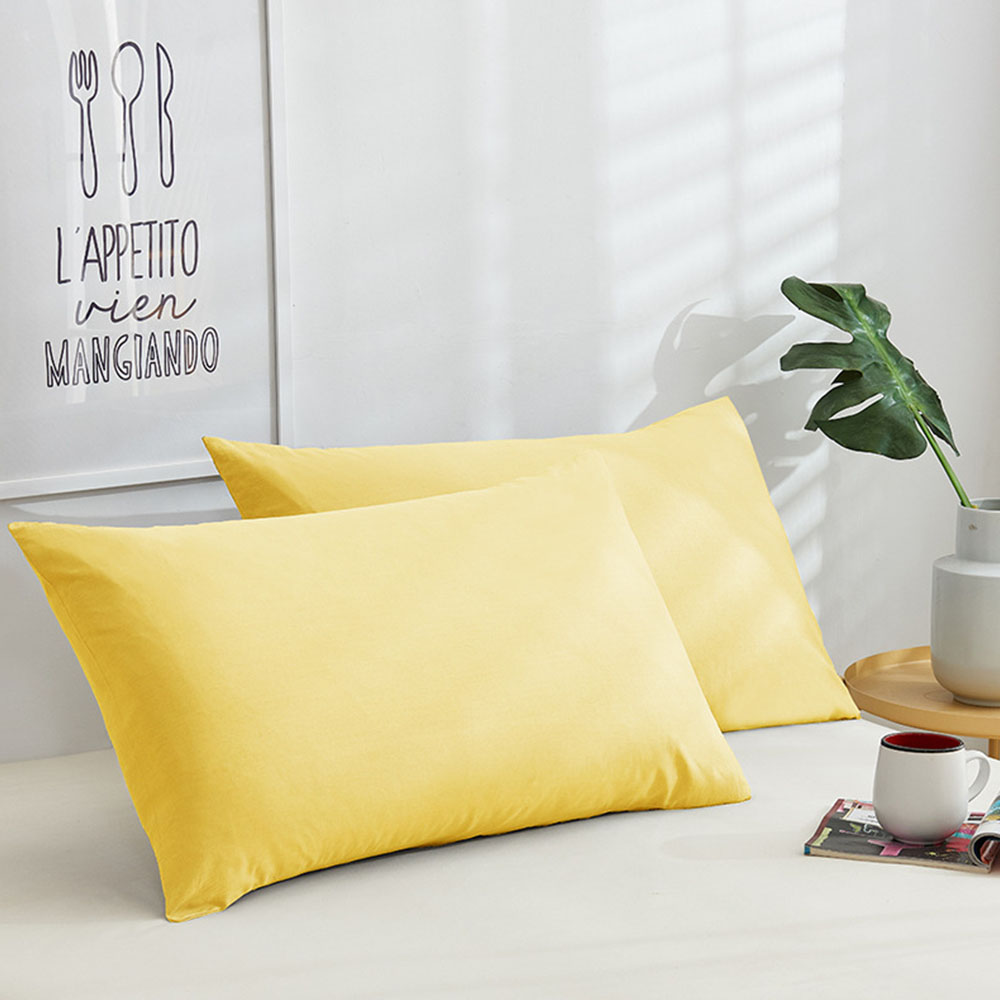 1 Piece 48*74cm Cotton Home Hotel Pillowcase 8 Solid Colors Pillow Case Use For Student Single Dormitory Bedding
