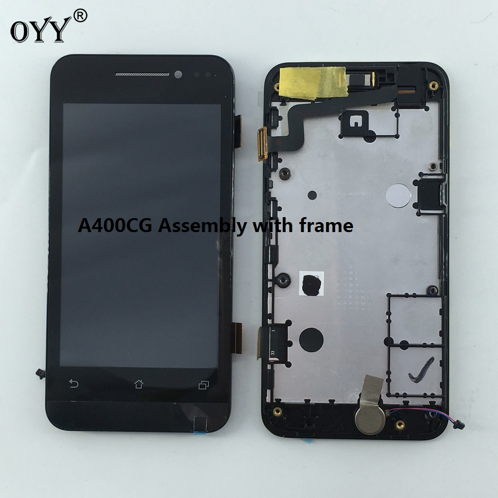 800*480 LCD Display Panel Screen Monitor Touch Screen Digitizer Glass Assembly with frame  For Asus Zenfone 4 A400CG lcd display screen panel monitor touch screen digitizer glass for asus google nexus 7 1st gen nexus7 2012 me370 me370t me370tg
